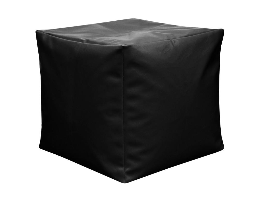 Пуфик кубик 35*35*35 см черный из кож зама Зевс