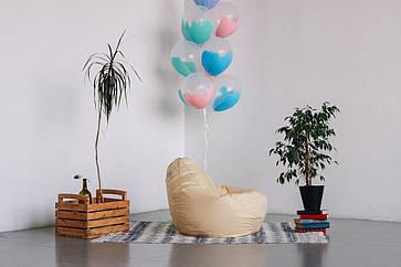 Бежевое кресло-мешок груша 100*75 см из ткани Оксфорд