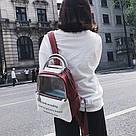Прозрачный рюкзак с металлическими ручками мятный., фото 2