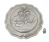 Старая настенная оловянная тарелка, олово, Германия, рукоделие, фото 3