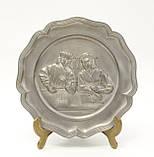 Старая настенная оловянная тарелка, олово, Германия, рукоделие, фото 2