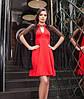 Нарядное платье красного цвета с накидкой черного цвета, платье женское красивое вечернее