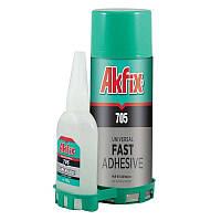 Клей с активатором Akfix 705 Fast Adhesive 125 грамм
