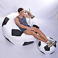 Комплект кресло-мяч 130 см + кресло-мя 80 см + мячик 50 см из ткани Оксфорд черно-белое, кресло-мешок мяч, фото 3