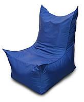 Синее бескаркасное кресло трон из Оксфорда