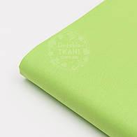 Лоскут ткани №37 однотонной бязи зелёного цвета.