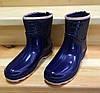 Женские резиновые сапоги, полу сапоги с утеплителем синие, фото 5