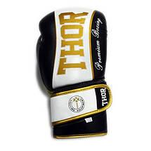Боксерські рукавички THOR THUNDER (PU) BLK, фото 3