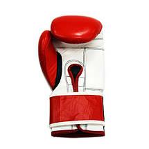 Боксерские перчатки THOR SHARK (Leather) RED, фото 2