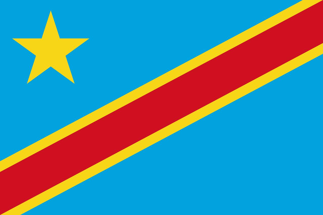 Флаг ДР Конго
