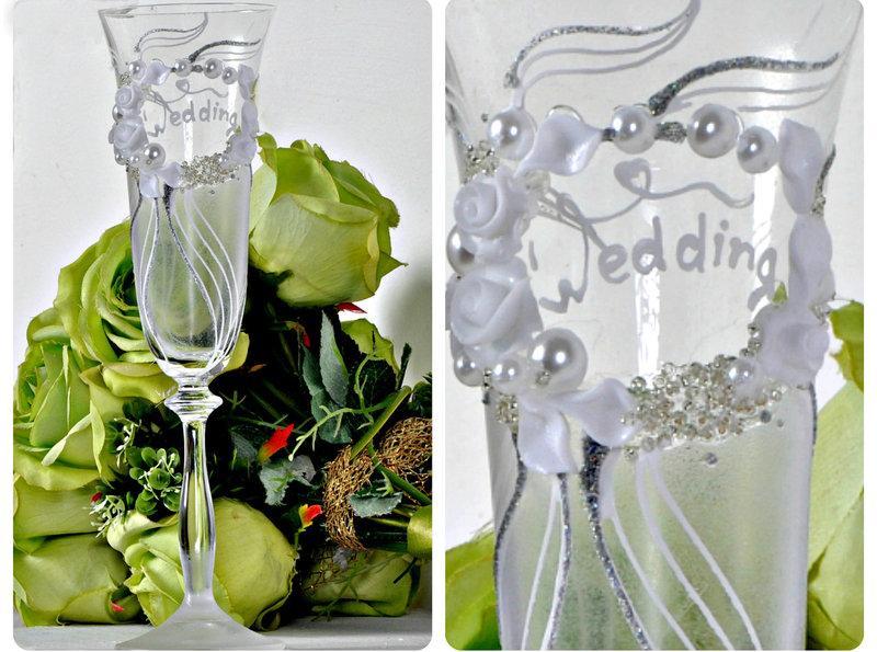 Набор свадебных бокалов для шампанского Bohemia Angela 190 мл х 2 шт (590)