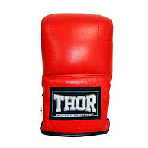 Снарядные перчатки THOR 606 (PU) RED, фото 3