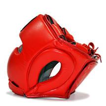 Защитный шлем боксерский классический THOR 716 (Leather) RED, фото 3