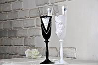 Набор свадебных бокалов для шампанского Bohemia Angela 190 мл х 2 шт (405)