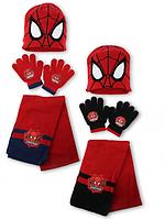 Шапка+перчатки+шарф для мальчиков Spider-Man оптом.