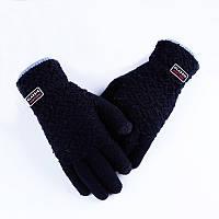 Зимние черные мужские перчатки Classic