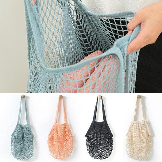 Хит - эко сумка авоська - 4 цвета, длинная ручка