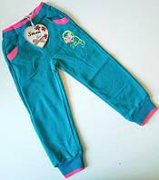 Утепленные спортивные брюки Бирюзовые (AD-629) Размер 98, 110 98