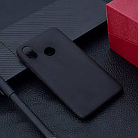 "Чехол Xiaomi Mi 8 6.21"" силикон soft touch бампер черный"