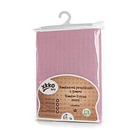 Простынь детская розовая бамбуковая, муслиновая XKKO 120x60