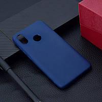 """Чехол Xiaomi Mi 8 6.21"""" силикон soft touch бампер темно-синий"""