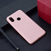 "Чехол Xiaomi Mi 8 6.21"" силикон soft touch бампер светло-розовый"