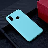 "Чехол Xiaomi Mi 8 6.21"" силикон soft touch бампер мятно-голубой"