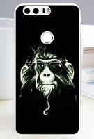 Бампер силиконовый чехол для Huawei Honor 8 с рисунком Обезьяна