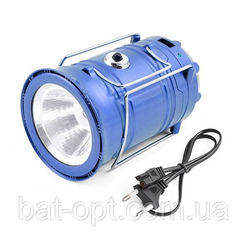Фонарь кемпинг 5700T 5+1LED трансформер (встроенный аккумулятор, солнечная батарея, Power bank) 12см