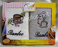 Полотенца махровые кухонные - Cestepe - Bamboo - 2 шт. - 30*50 - 100% бамбук - Турция - (kod1519), фото 1