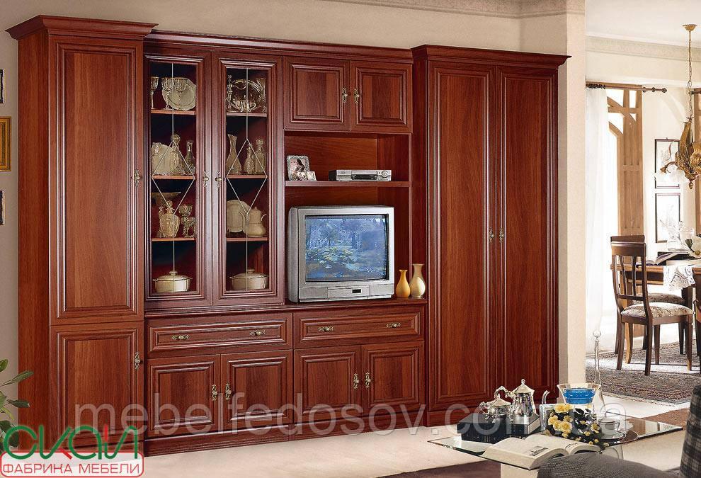 Вітальня Ріо люкс МДФ (Скай) 3070х2150х590мм