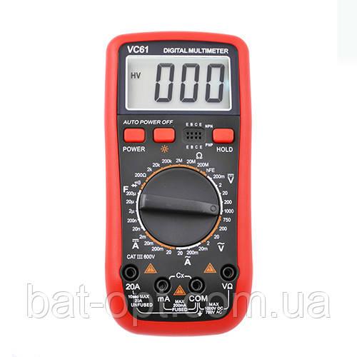 Мультиметр цифровой VC61 тестер
