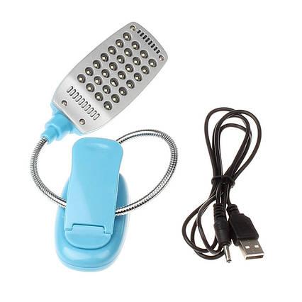 Светодиодный настольный USB светильник 28LED на батарейках, фото 2
