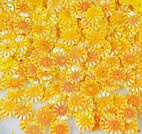 Пайетки круглые 7мм желтые с блеском АВ 3 гр., фото 1