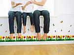 Самоклеющаяся  наклейка  на стену Тюльпаны и бабочки  (180х45см), фото 4