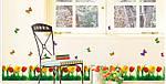 Самоклеющаяся  наклейка  на стену Тюльпаны и бабочки  (180х45см), фото 5