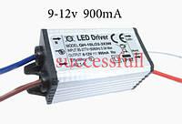 Драйвер для светодиодов 10ват 900 мА