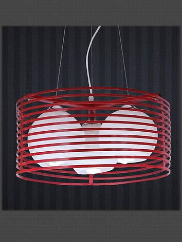 Люстра подвесная в стиле Loft на три плафона красная LV 7079800-3, фото 2