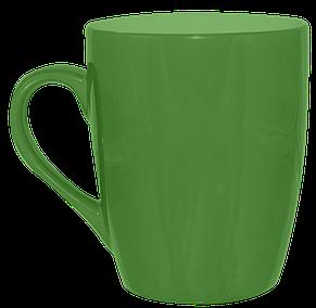 Кружка конус зеленая 320 мл, фото 2
