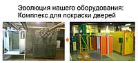 Эволюция нашего оборудования: комплекс для покраски дверей