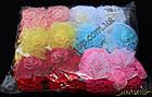 Повязка для волос сеточка цветок, ширина повязки: 4 см, 12 штук в упаковке, фото 2