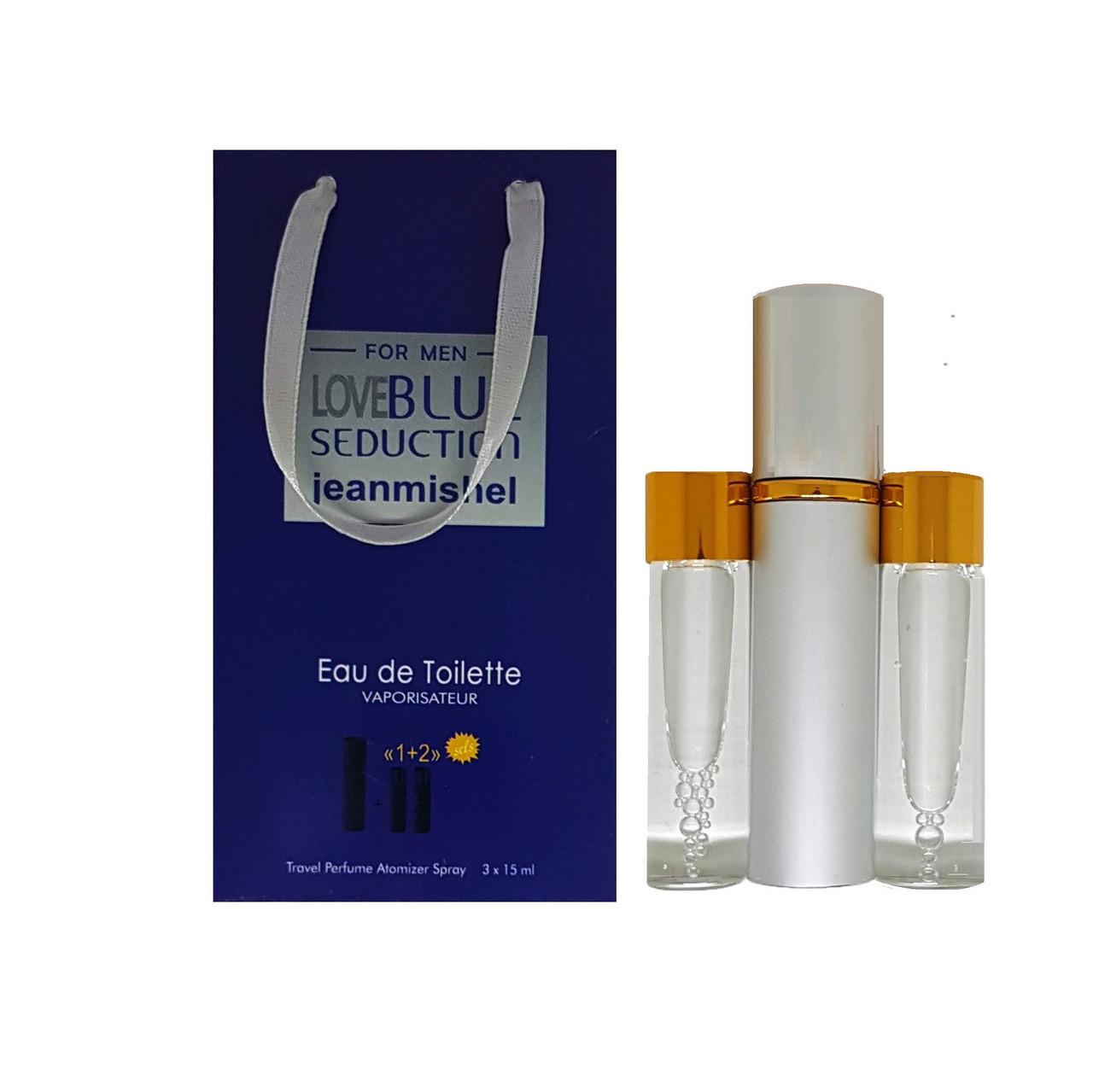 Jeanmishel Love Blue Seduction for men (99) 3 x 15 ml
