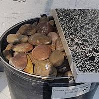 Мраморная галька полированная коричневая 40-60 мм