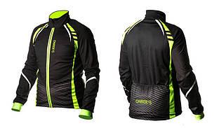 Велокуртка ONRIDE BARK черный / зеленый