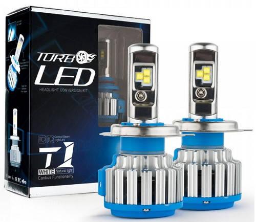 Светодиодные автолампы TurboLed T1 H4 6000K 35W 12/24v CanBus с активным охлаждением(7551), фото 2