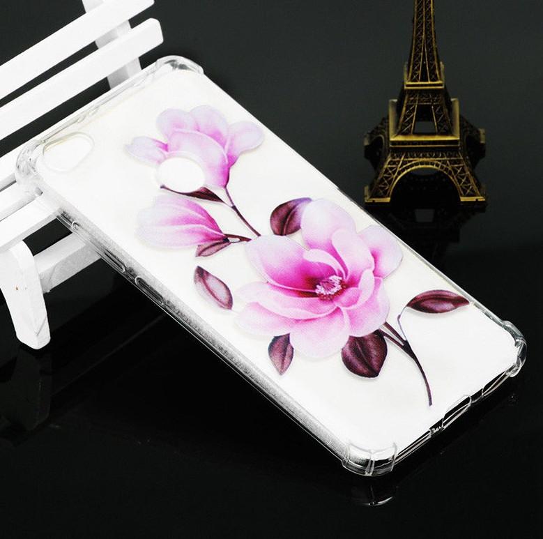 Силиконовый чехол с цветами для Xiaomi Redmi 4A