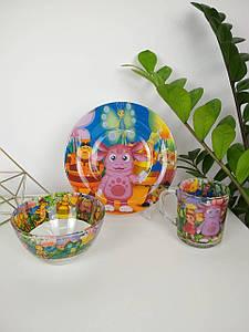 Детский набор посуды Лунтик, 3 предмета