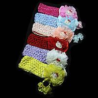 Повязка для волос сеточка Кити, ширина повязки: 4 см, 12 штук в упаковке