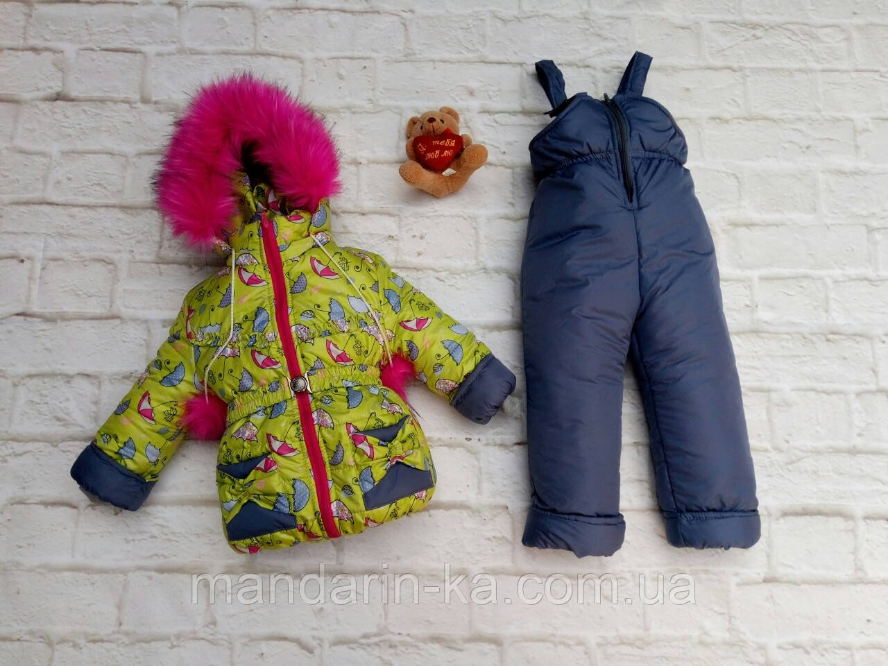Зимний  детский    раздельный  комбинезон