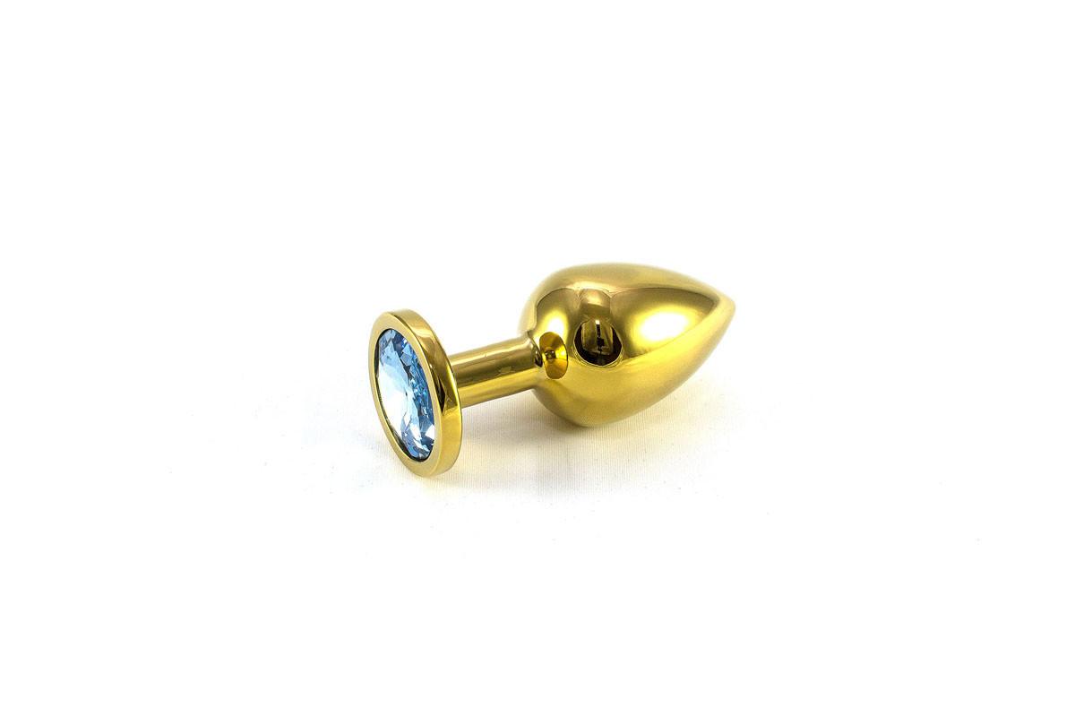 Анальная пробка метал M (золотая)